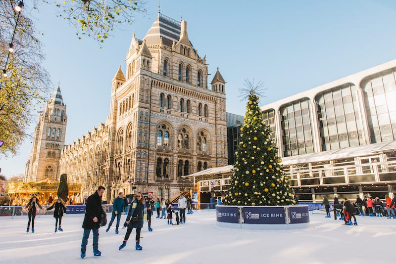 Christmas Ice Skating London.Family Fun At The Natural History Museum Ice Rink