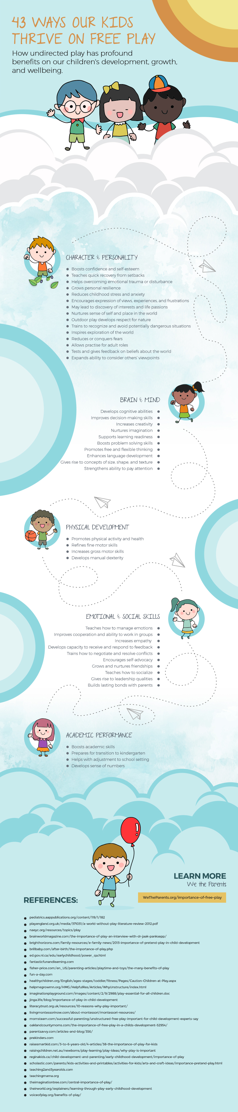 Benefits of free play for children