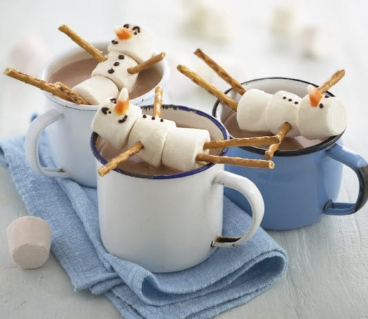 Festive Recipe Hot Chocolate Recipe Snowmen