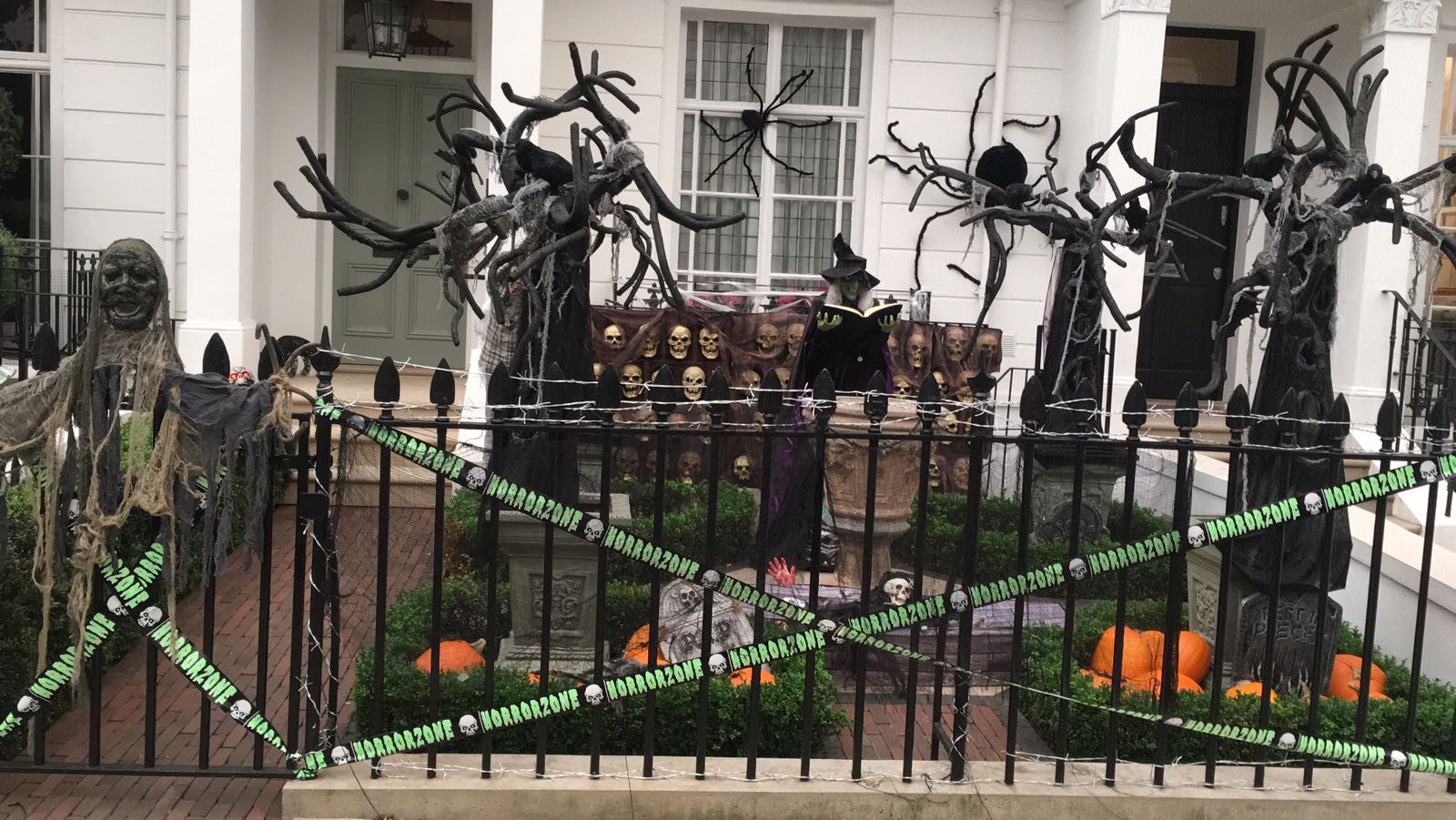 Image result for pictures of kensington london houses decorated for halloween