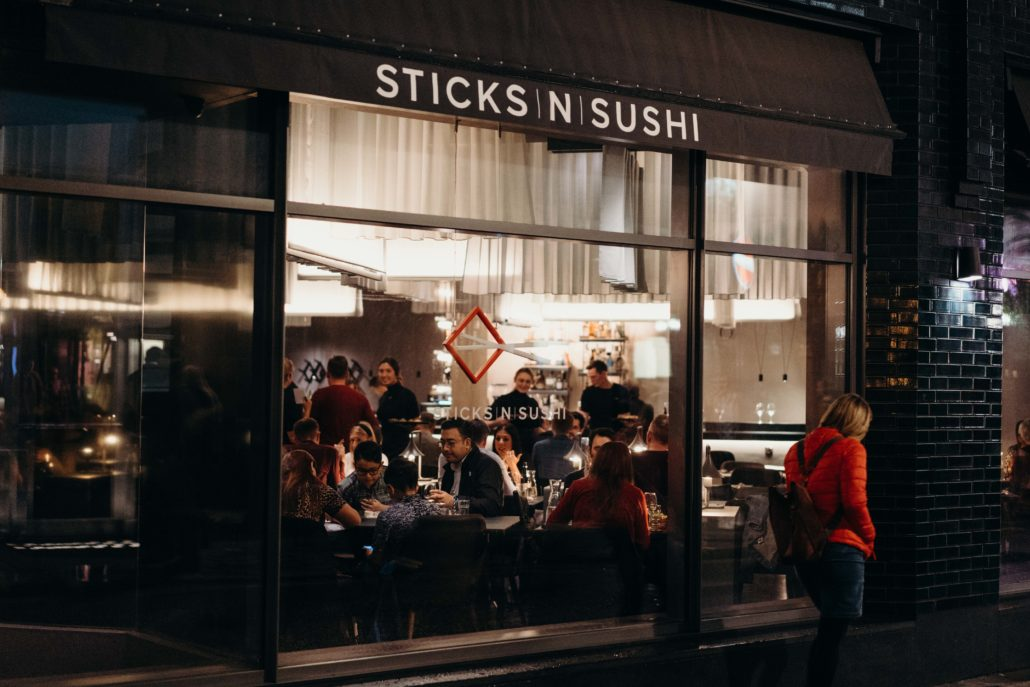 sticks and sushi